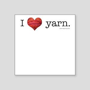 I heart yarn Square Sticker