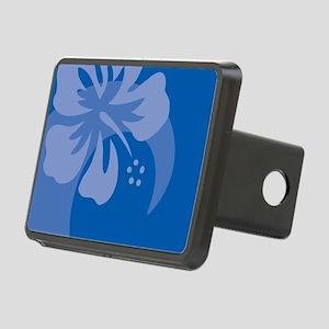 Hibiscus Blue Rectangular Hitch Cover