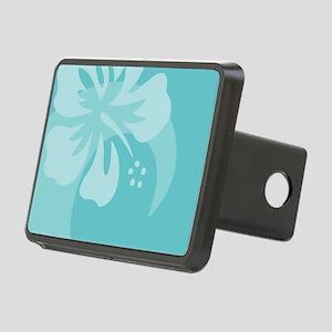 Hibiscus Aqua Rectangular Hitch Cover