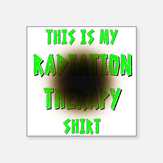 My Radiation Therapy Square Sticker