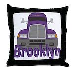 Trucker Brooklyn Throw Pillow