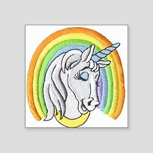 Rainbow Unicorn Square Sticker