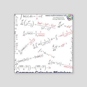 More Common Calculus Mistakes Square Sticker