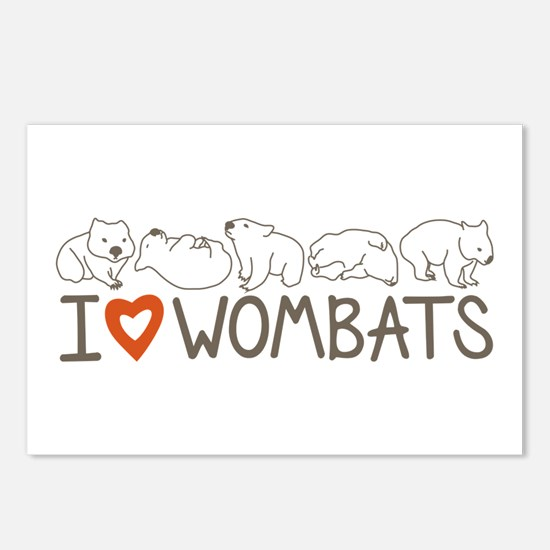 I Heart Wombats Postcards (Package of 8)