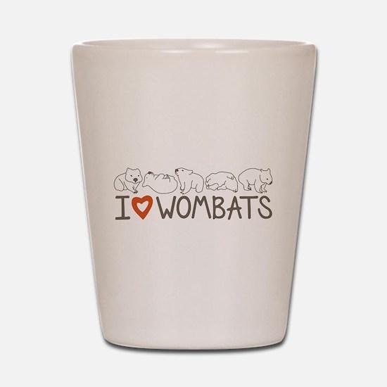 I Heart Wombats Shot Glass