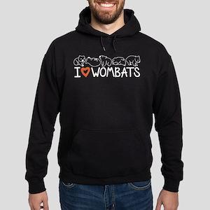 I Heart Wombats Hoodie (dark)