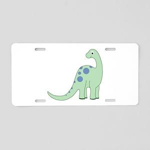 Happy Baby Dinosaur Aluminum License Plate