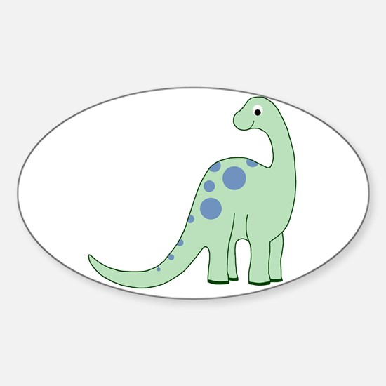 Happy Baby Dinosaur Sticker (Oval)