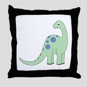 Happy Baby Dinosaur Throw Pillow