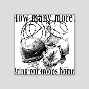 Bring Our Troops Home Square Sticker