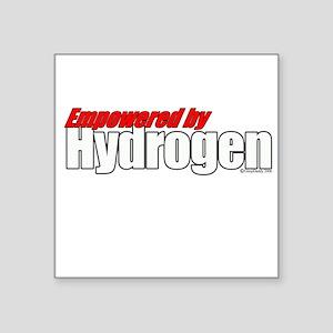 Empowered by Hydrogen Square Sticker