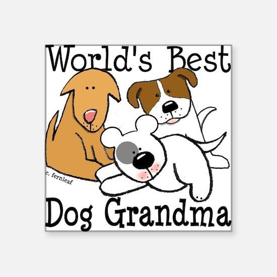 World's Best Dog Gramma Square Sticker