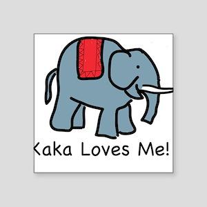 Kaka Loves Me Elephant Square Sticker