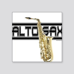 Alto Sax Square Sticker