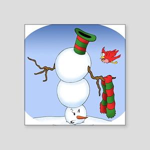 Snowman Troubles Square Sticker