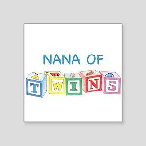Nana of Twins Blocks Square Sticker