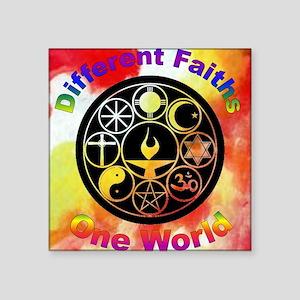 Different_one world Square Sticker