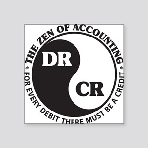 Zen of Accounting Square Sticker