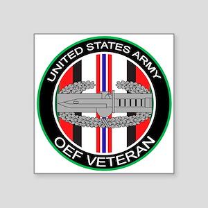 OEF Veteran with CAB Square Sticker