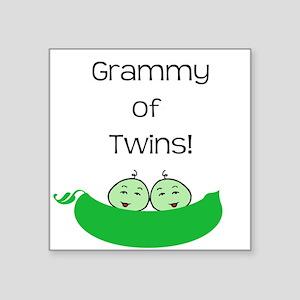 Grammy of twins Square Sticker