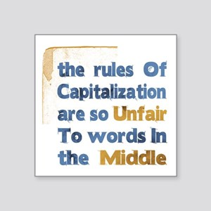 Capitalization - Square Sticker