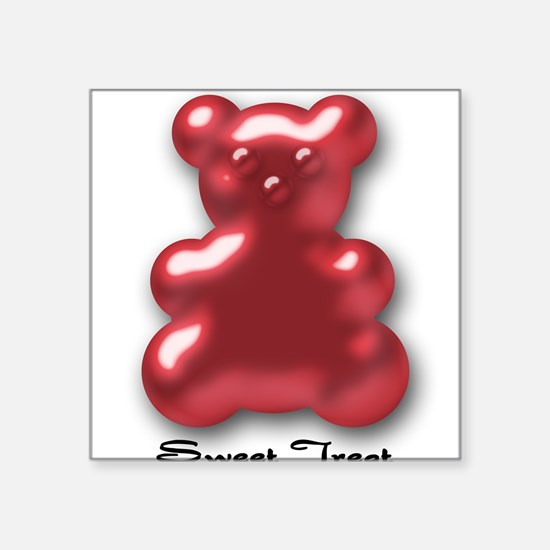 Sweet Treat Red Square Sticker