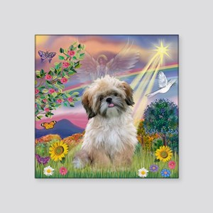 Cloud Angel & Shih Tzu Square Sticker