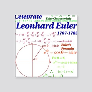 Celebrate Euler Light Color Square Sticker
