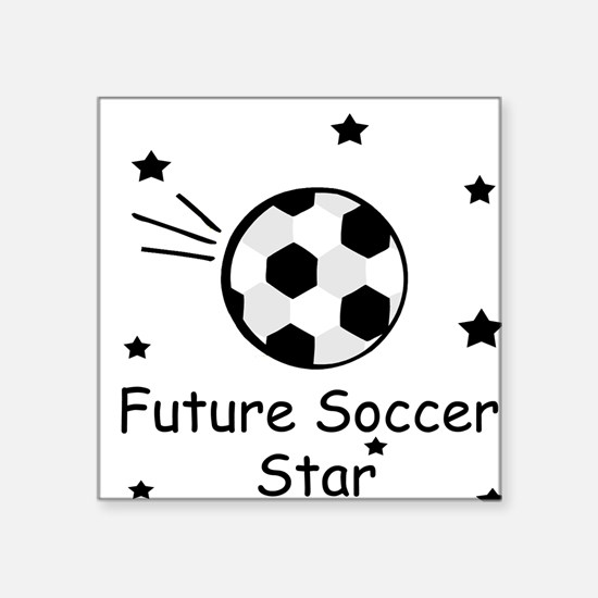 Future Soccer Star Square Sticker