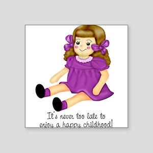 Purple - Rag Doll Square Sticker