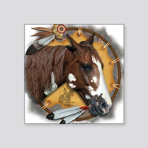 War Pony & Shield Square Sticker