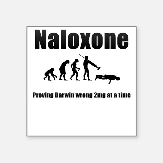 Naloxone Square Sticker