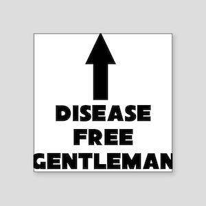 Disease Free Gentleman Square Sticker