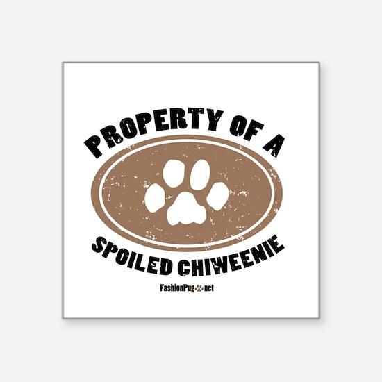 Chiweenie dog Square Sticker