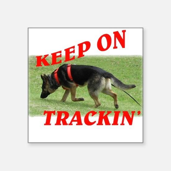 GSD tracking dog Square Sticker