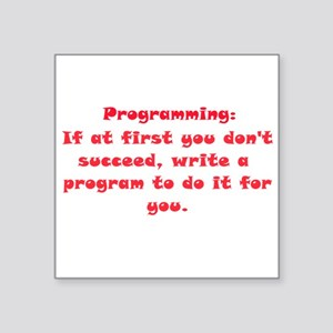 Programming Square Sticker