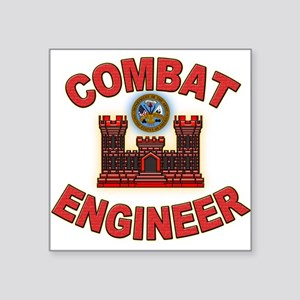 US Army Combat Engineer Brick Square Sticker