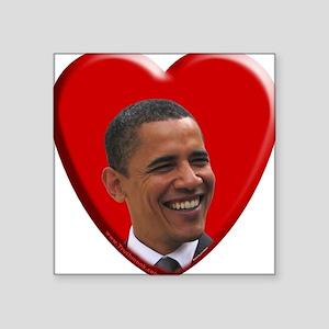 Love Barack Obama Square Sticker
