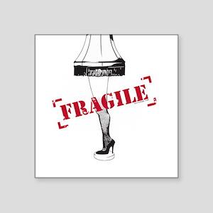 Leg Lamp Fragile Major Award Square Sticker