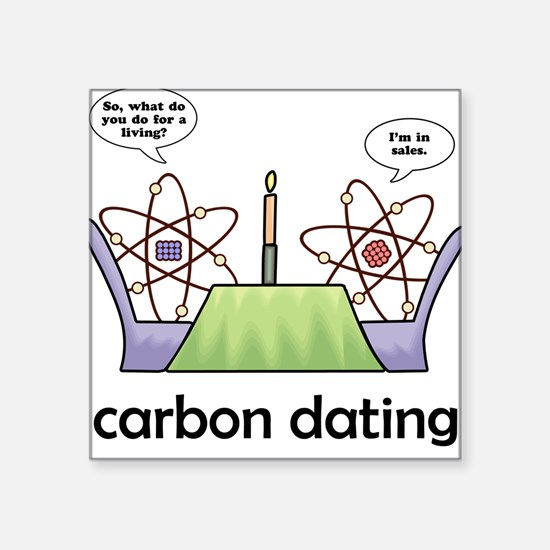Carbon Dating Square Sticker