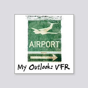 Airport Sign Square Sticker