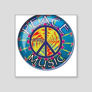 Peace thru Music Square Sticker