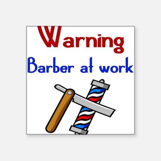 Barber Square Sticker