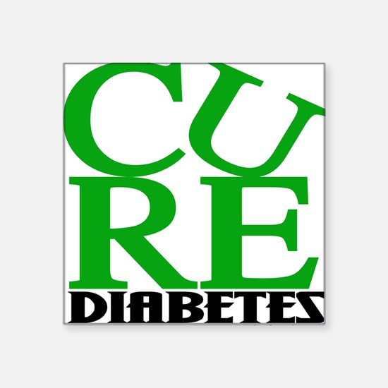 Green Cure Square Sticker