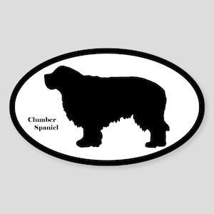Clumber Spaniel Silhouette Sticker