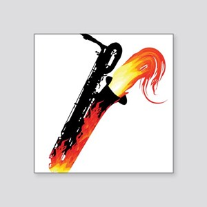 Hot Baritone Sax Square Sticker