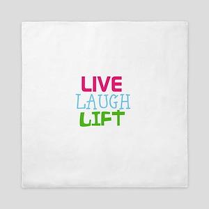 Live Laugh Lift Queen Duvet