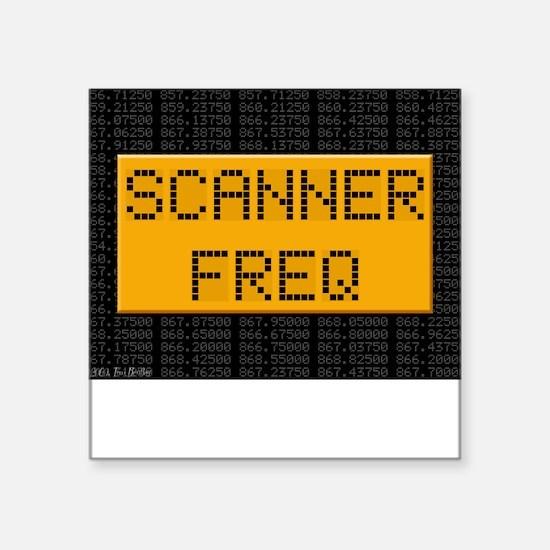Scanner Freq Square Sticker Square Sticker