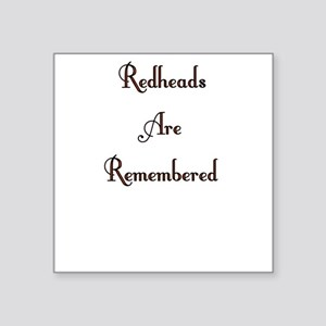 Remembered Square Sticker