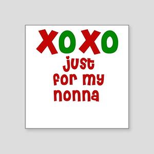 Kisses & Hugs for Nonna Square Sticker